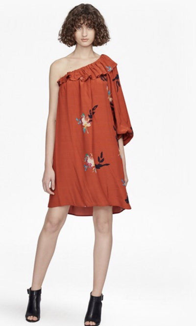 Dress - Delphine Draped One Shoulder Dress
