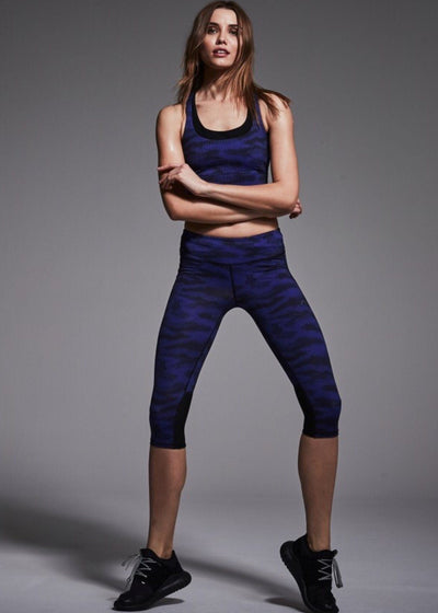 Sports Bra - Varley Bolton Sports Bra In Navy Camo