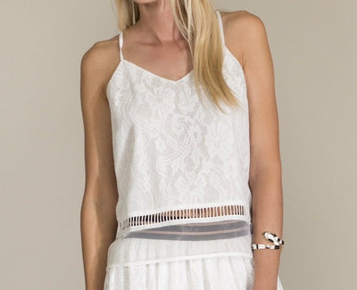 Tops - White Lace Cami Top