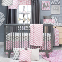 Swizzle Pink Crib Collection
