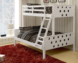 Circles Twin over Full Bunk Bed - White
