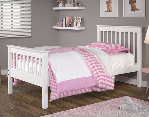 Twin Mission Bed - White