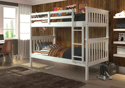 Mission Twin over Twin Bunk Bed - White