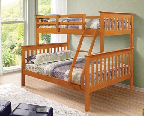 Mission Twin over Full Bunk Bed - Honey