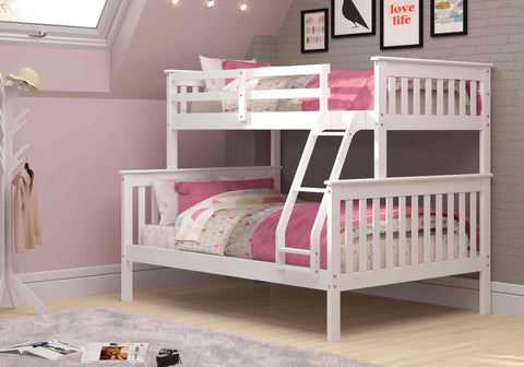 Mission Twin over Full Bunk Bed - White