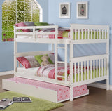 Mission Full over Full Bunk Bed - White