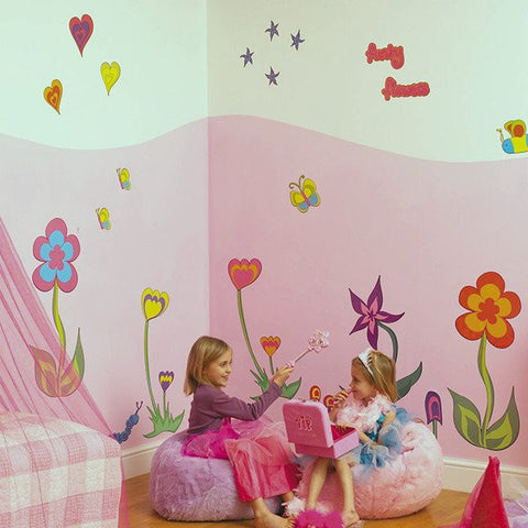 Funky Flowers Wall Decals