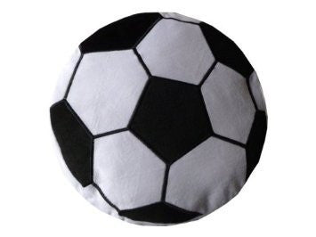 Soccer Sports Round Plush Pillow