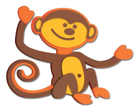 3D Foam Monkey Wall Decal