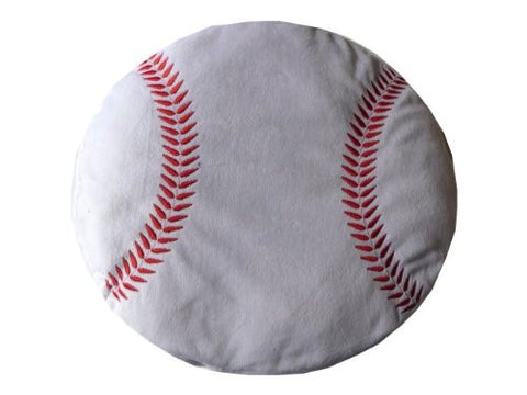 Baseball Sports Round Plush Pillow