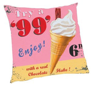 Vintage Ice Cream Pillow