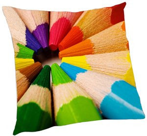 Rainbow Color Pencils Pillow