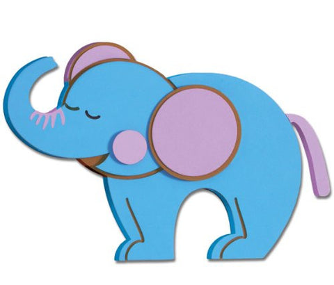 3D Foam Elephant Wall Decal