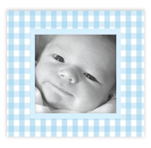 Blue Gingham Picture Frame Wall Decals