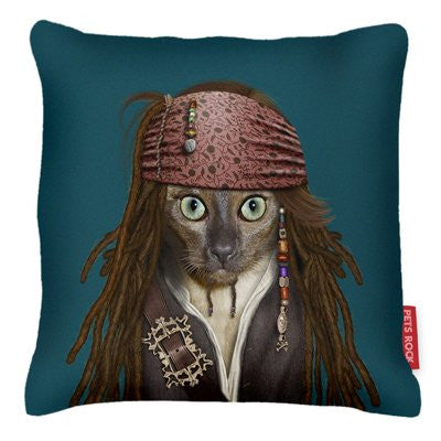 Pirate Pets Rock Pillow