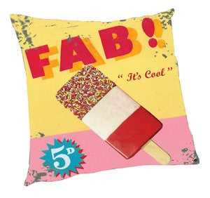 Vintage Fab! Ice Cream Pillow