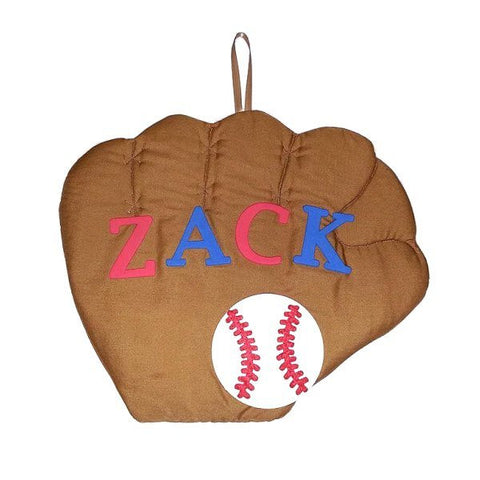 Personalized Baseball Glove Fabric Wall Art