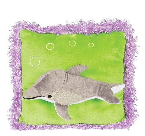 Neon Raised Dolphin Pillow