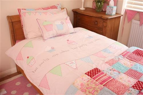Tea Party Cupcake Duvet Cover Set -Twin