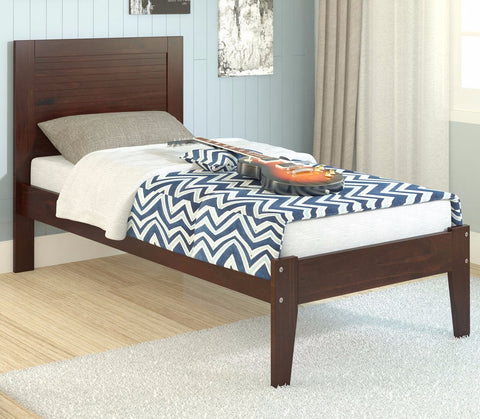 Twin Panel Bed - Dark Cappuccino