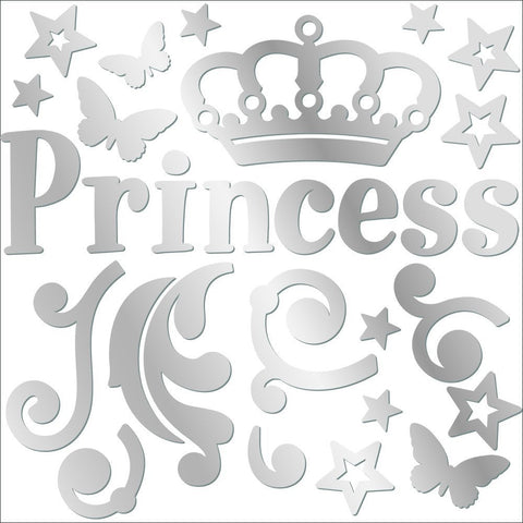 Princess Mirror Wall Decals