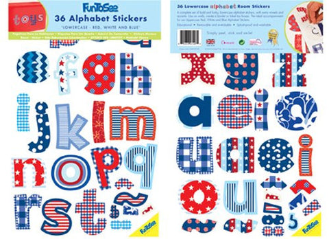 Blue & Red Lowercase Alphabet Wall Decals