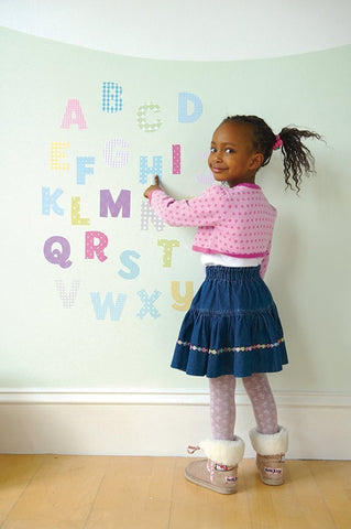 Uppercase Pastel Alphabet Wall Decals
