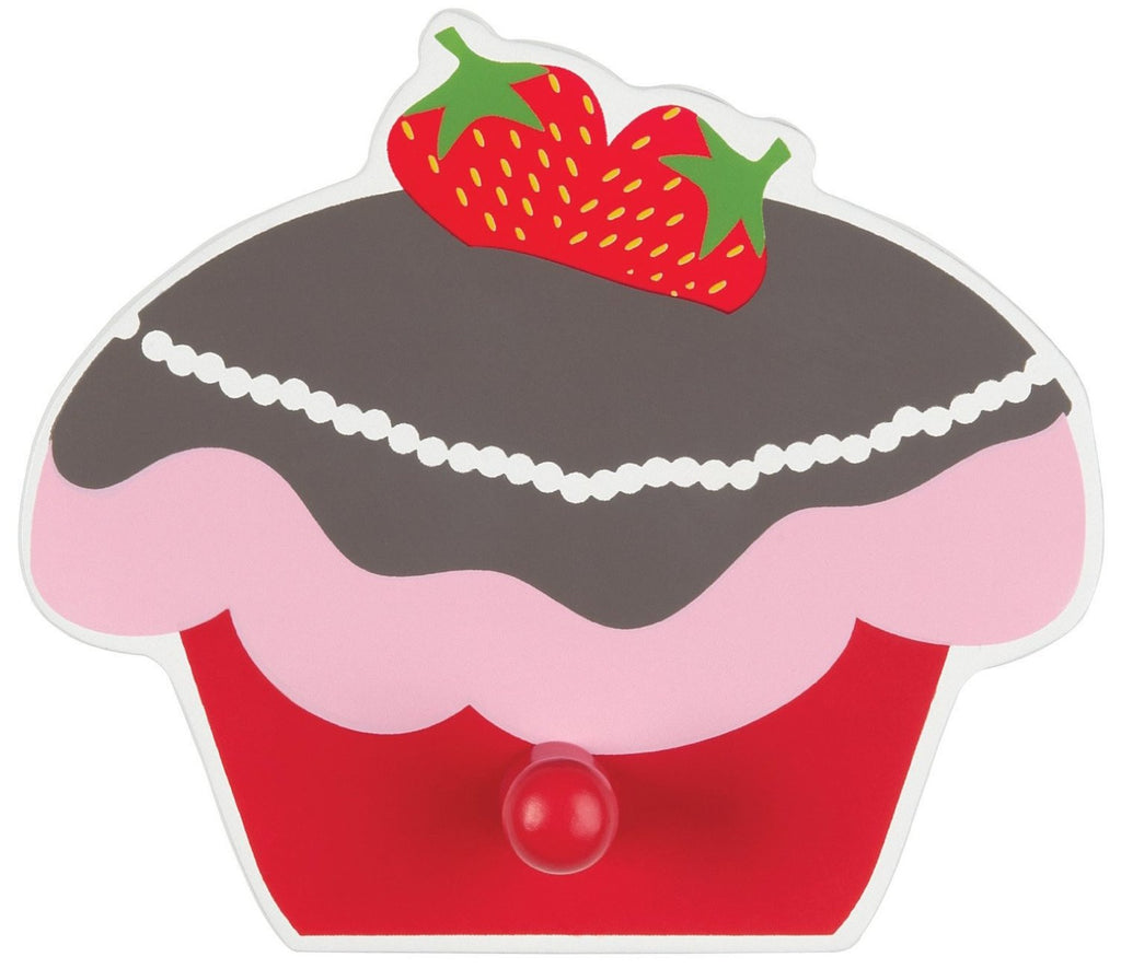 Strawberry Cupcake Wall Hook