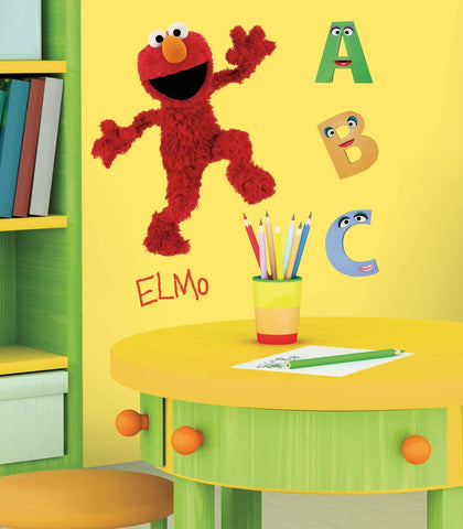 Sesame Street Elmo Giant Wall Decal