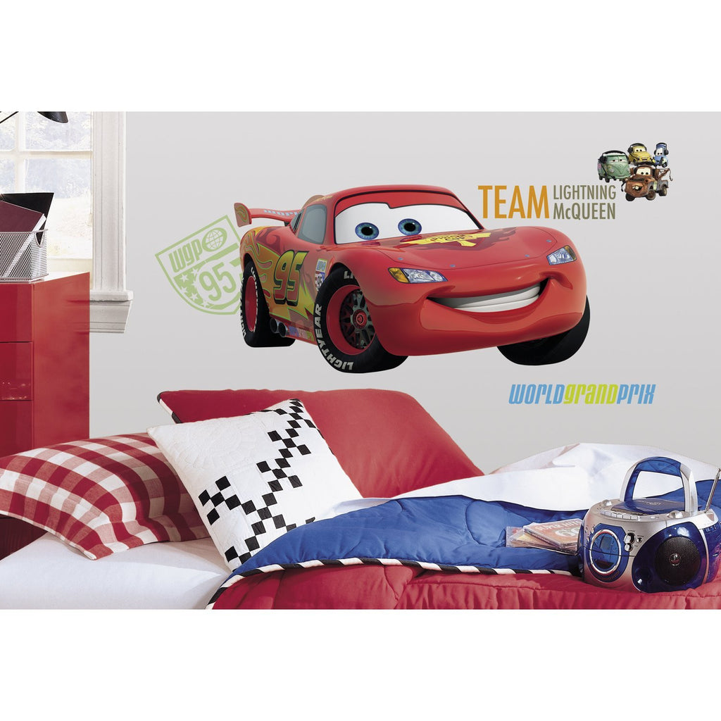Cars lightning mcqueen wall decal fun rooms for kids for Cars wall mural sticker