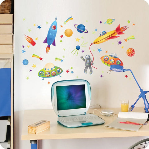 Spaceship Wall Decals
