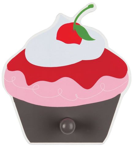 Cherry Cupcake Wall Hook