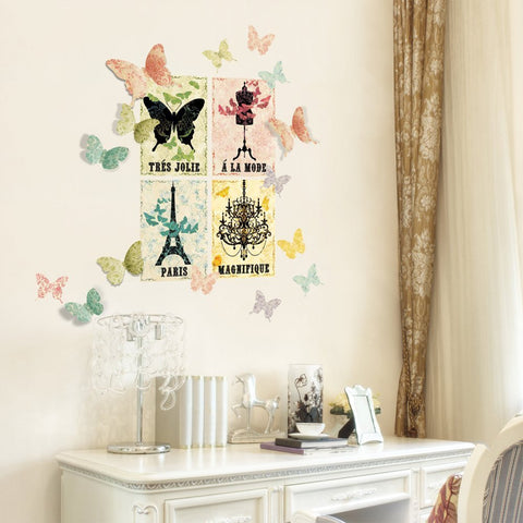 Paris Tres Jolie Wall Decals
