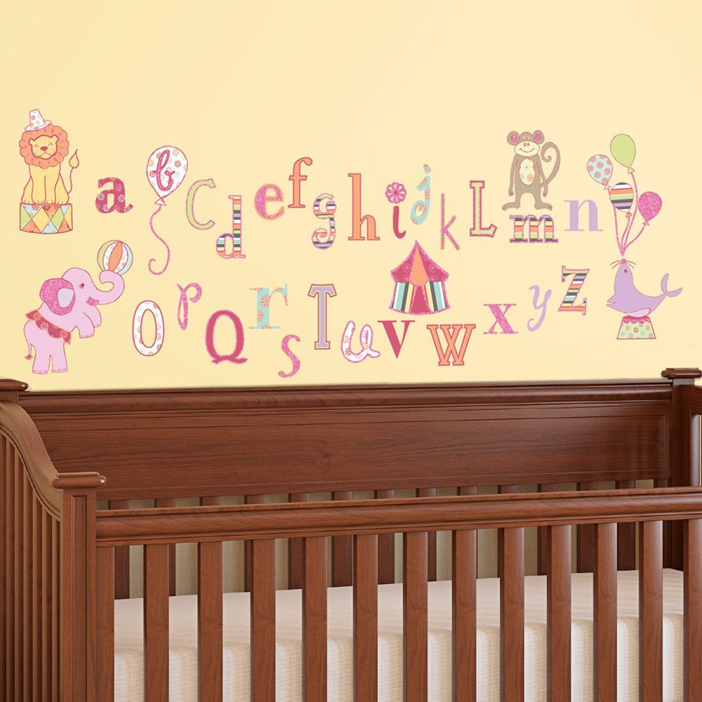 Circus Alphabet Wall Decals
