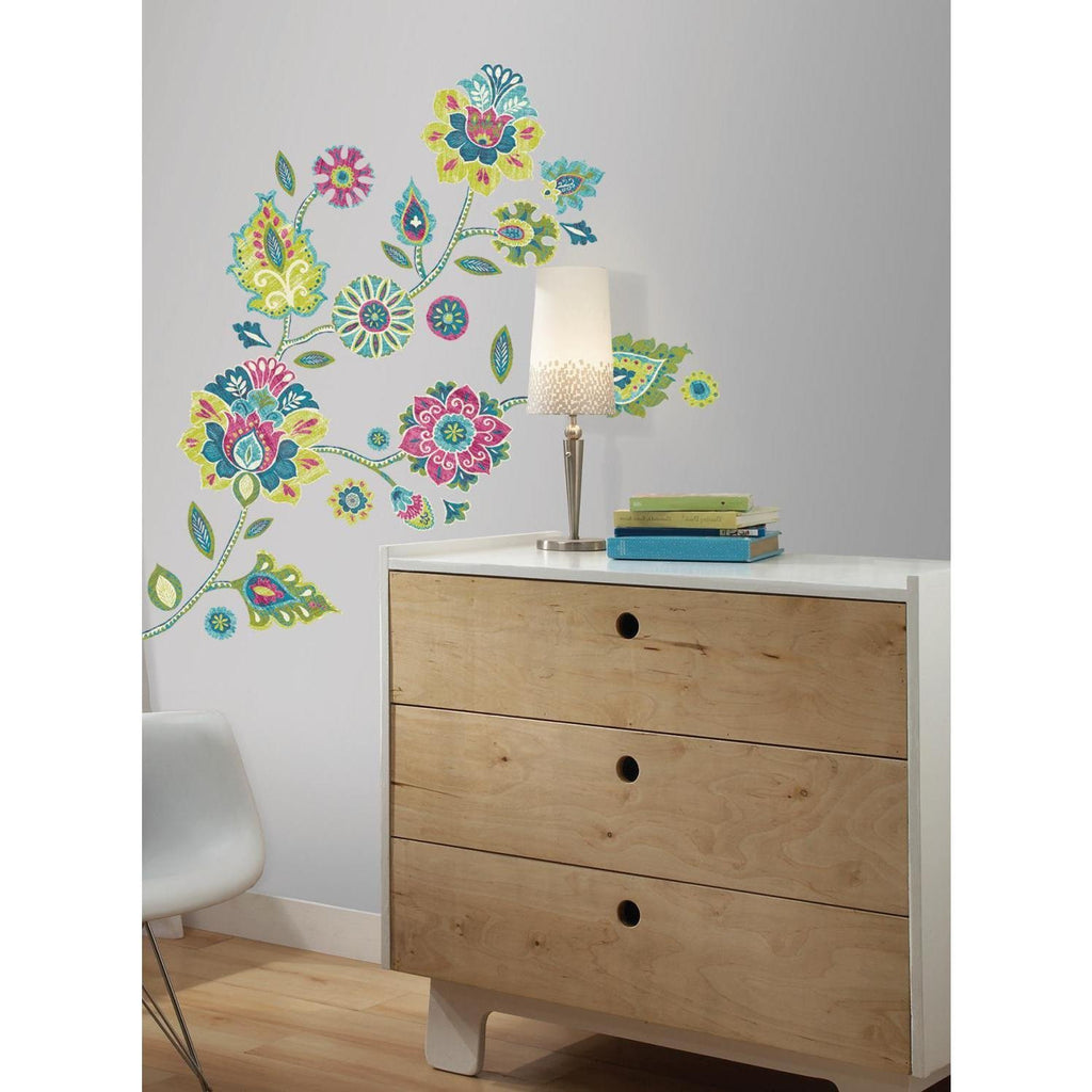 Boho Flower Giant Wall Decals