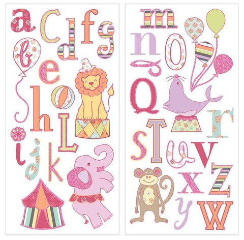 Circus Animal Alphabet Nursery Wall Decals Fun Rooms For