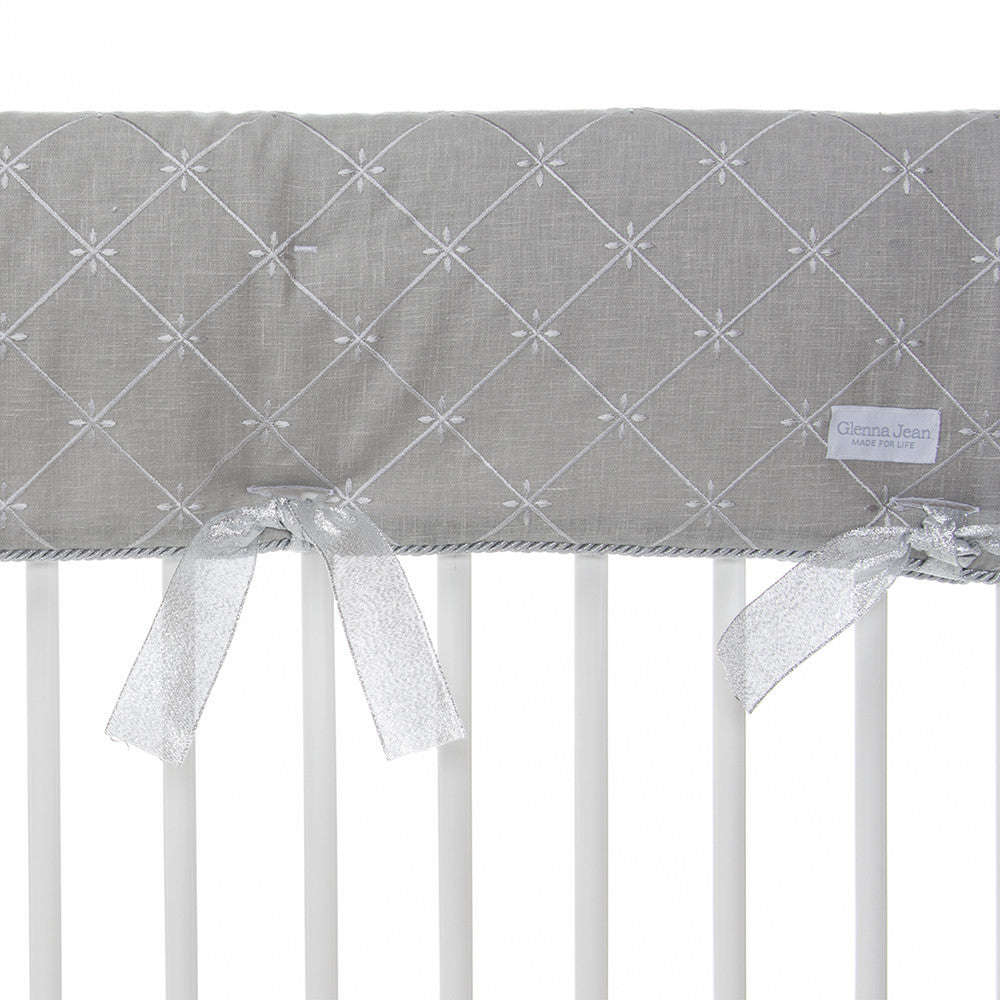 Grey Embroidery Long Rail Cover (Individual)