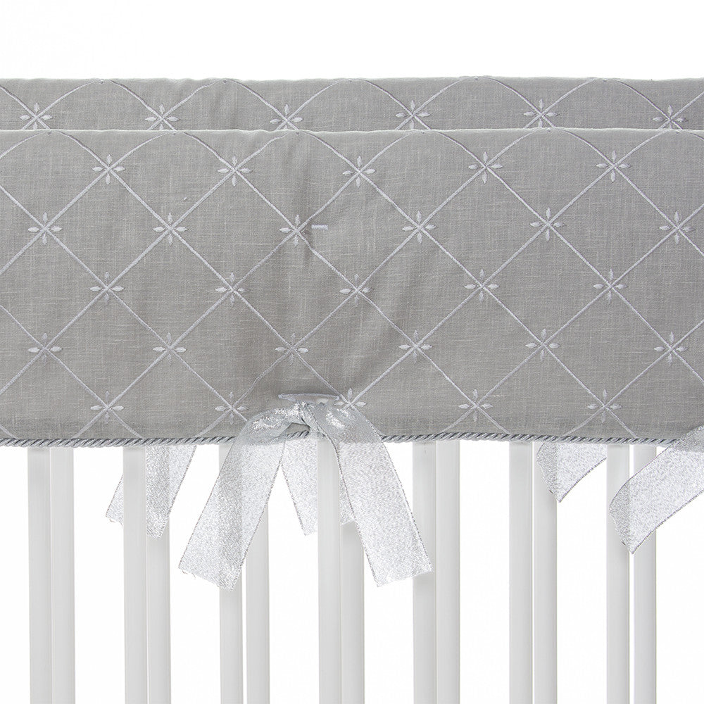 Grey Embroidery Short Rail Guard (Set of 2)