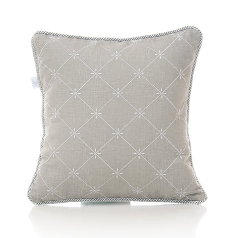 Grey Embroidery Pillow