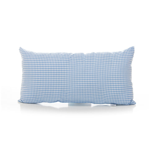 Blue Gingham Rectangular Throw Pillow