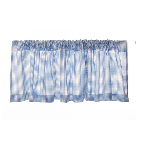 Bue Gingham Window Valance