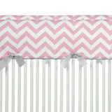 Swizzle Pink Chevron Short Rail Guard (Set of 2)