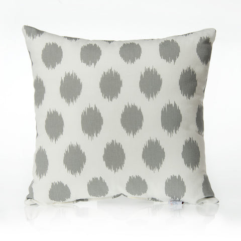Grey Dot Pillow