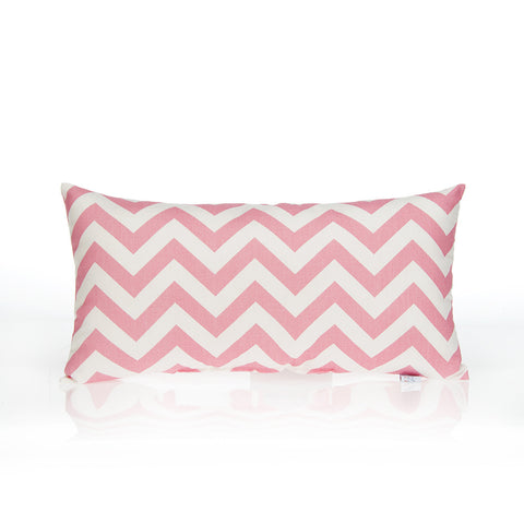 Rectangular Pink Chevron Pillow
