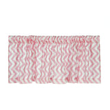 Swizzle Pink Chevron Window Valance