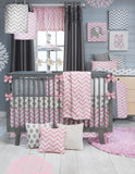 Pink Chevron with Elephant Wall Art