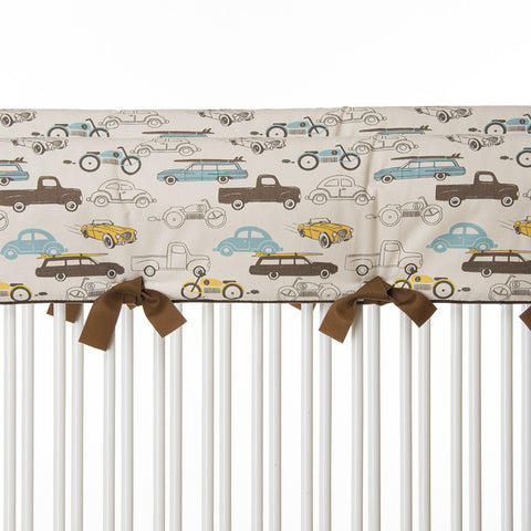 Traffic Jam Car Print Short Rail Cover (Set of 2)