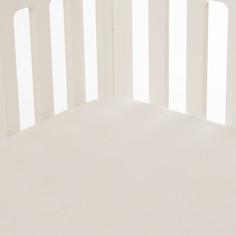Cream Softee Fitted Crib Sheet