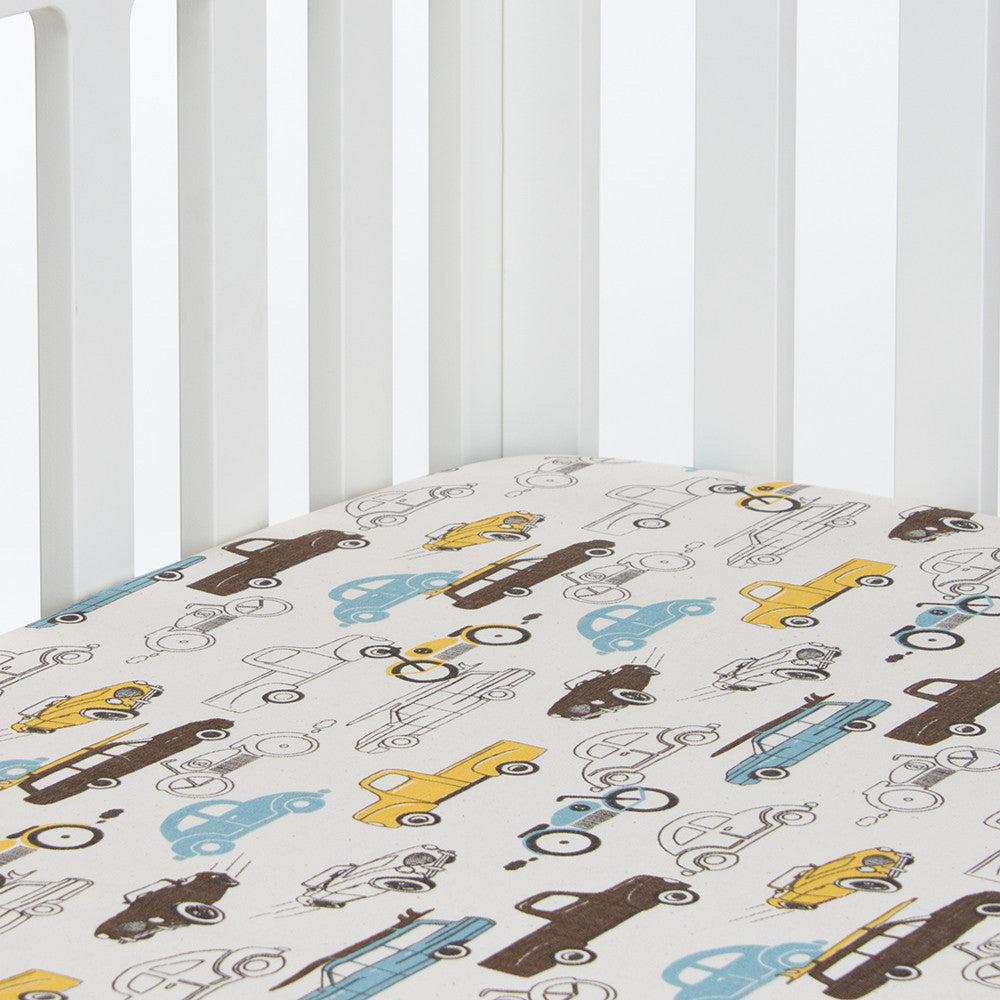 Traffic Jam Cars Fitted Crib Sheet