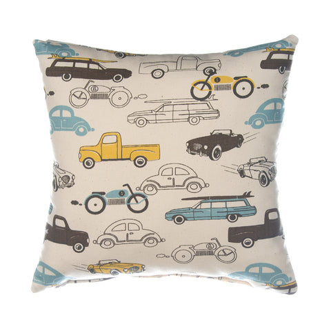 Traffic Jam Car Print Pillow